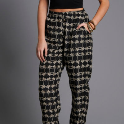 Palm Print Trousers