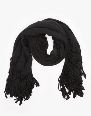 black scarf, snood,