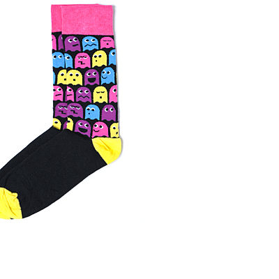 Bank Pacman Face Socks