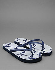 Bank Swallow Print Flip Flops