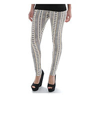 Ribbon Metallic Aztec Leggings