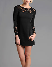 CORALISA Lace Detail Shift Dress