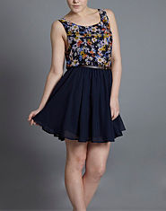 Ribbon Floral Two in One Dress