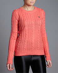 BLONDE & BLONDE Cable Knit Crew Jumper