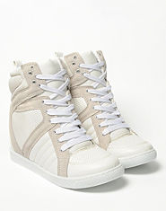 Bank Nikki Wedge Hi Top Trainers