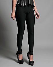 Ribbon Jacquard Leggings