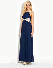 Little Mistress Alyssa Lace Panel Maxi Dress