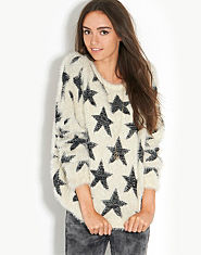 BLONDE & BLONDE Star Eyelash Jumper