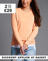 BLONDE & BLONDE Ribbed Crew Sweatshirt