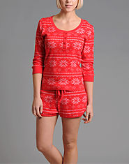 Bank Snow Shorts Pyjama Set