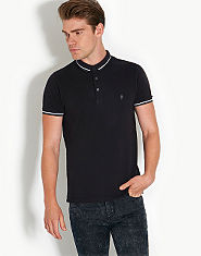 French Connection Tipped Polo Shirt