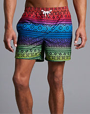 Outcast Ibiza Aztec Swim Shorts