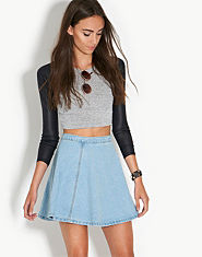 Glamorous Denim Circle Skater Skirt