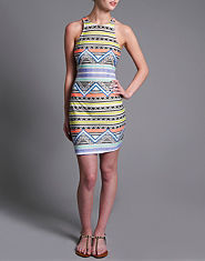 Glamorous Aztec Bodycon Dress