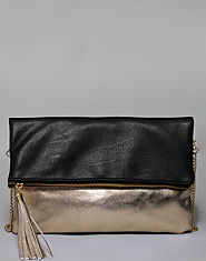 Bank Fold Over Clutch Bag