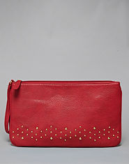 Bank Studded Wristlet Clutch Bag