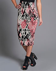Ribbon Match Midi Skirt