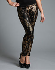 Ribbon Foil Leggings