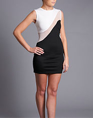 Ribbon Bodycon Swirl Dress