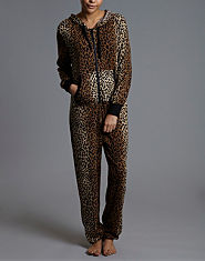 Ribbon Animal Print Onesie