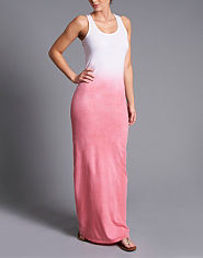 BLONDE & BLONDE Dip Dye Maxi Dress