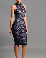 Lipsy Lace Bodycon Midi Dress
