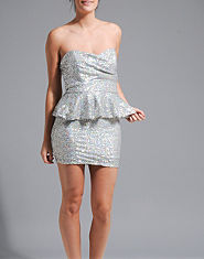 TFNC Alma Sequin Peplum Dress