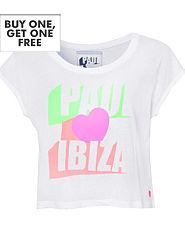 Pauls Boutique Paul Hearts Ibiza Cropped T-Shirt