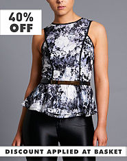 Little Mistress Floral Peplum Top