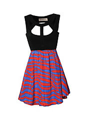 REVERSE Cut Out Striped Dress