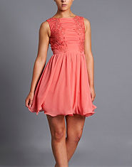 Little Mistress Lace Skater Dress