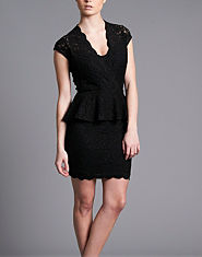 TFNC Kristy Lace Peplum Dress