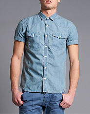Rivington Lansing Short Sleeve Denim Shirt