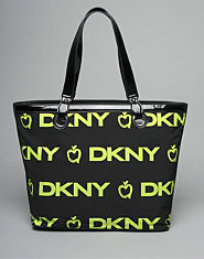DKNY Neon Printed Shopper Bag