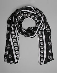 Bank Skull and Crown Scarf