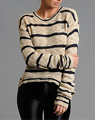 BLONDE & BLONDE Fine Stripe Jumper