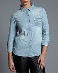 BLONDE & BLONDE Stars Denim Shirt