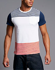 Nanny State Ahoy Colour Block Striped T-Shirt