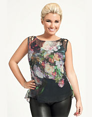 Little Mistress By Minnies Printed Fishtail Top