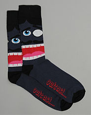 Outcast Moustashe Socks