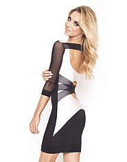QUONTUM Mesh Cross Back Dress