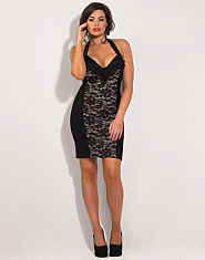 Jessica Wright Ruby Halterneck Lace Dress