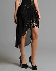 Lipsy Sequin Diphem Skirt