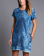 Red or Dead Bith Denim Dress