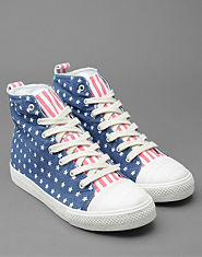 Bank Stars and Stripes Hi Tops