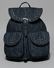 Bank Denim Studded Backpack