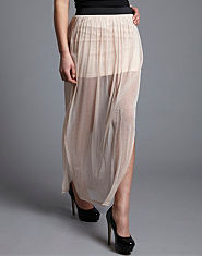 Lipsy Sparkle Sheer Maxi Skirt