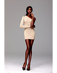 House Of Dereon One Shoulder Dress