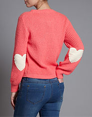 Love Heart Patch Jumper