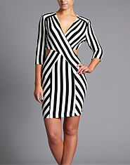 Love Cutout Striped Dress